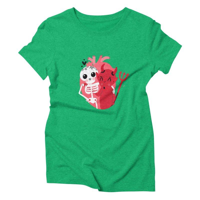 Calaveras y diablitos Women's T-Shirt by Maria Jose Da Luz