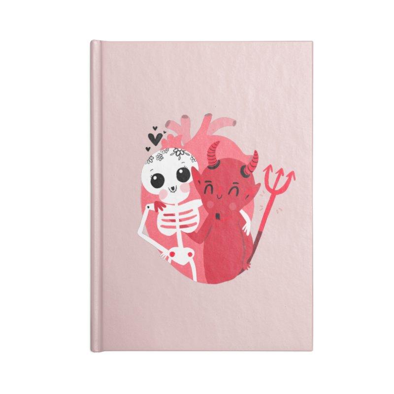 Calaveras y diablitos Accessories Notebook by Maria Jose Da Luz