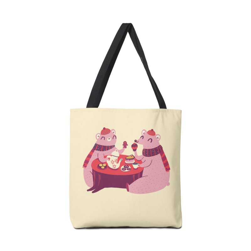 Beary hungry Accessories Bag by Maria Jose Da Luz