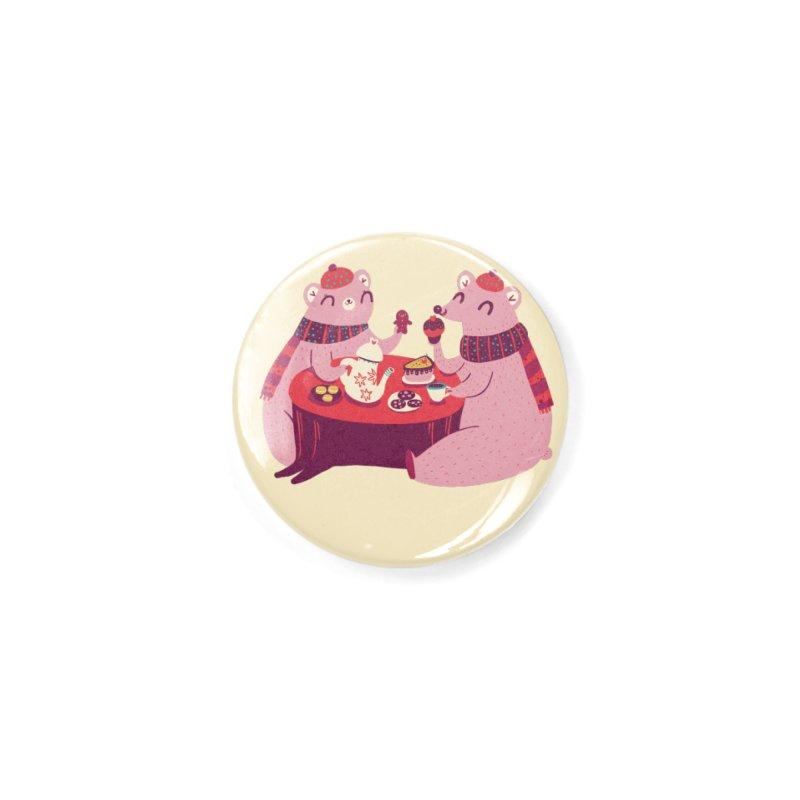 Beary hungry Accessories Button by Maria Jose Da Luz