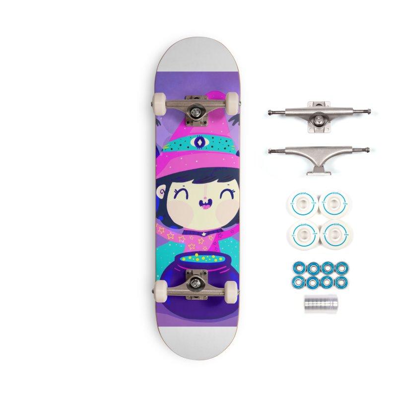 Little witch Accessories Skateboard by Maria Jose Da Luz