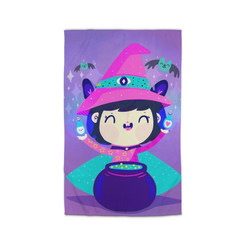 Little witch Home Rug by Maria Jose Da Luz