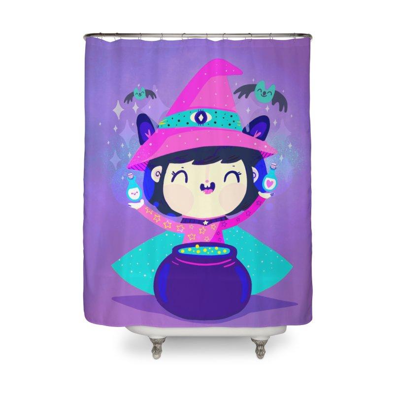 Little witch Home Shower Curtain by Maria Jose Da Luz