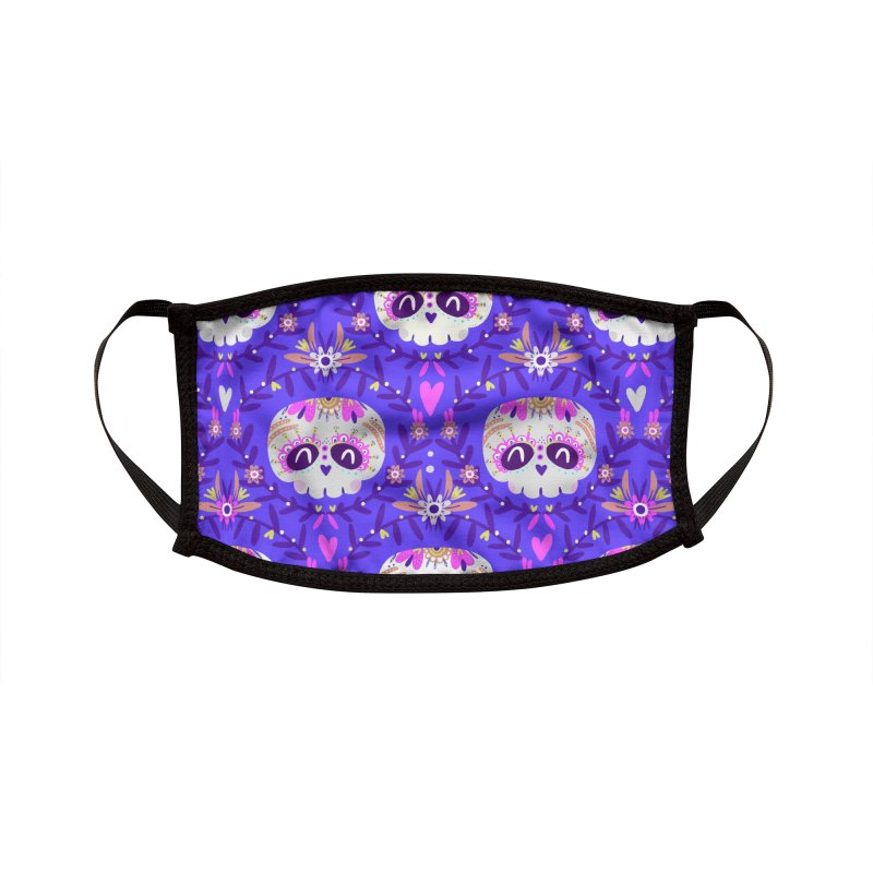 Calaveritas y flores Accessories Face Mask by Maria Jose Da Luz