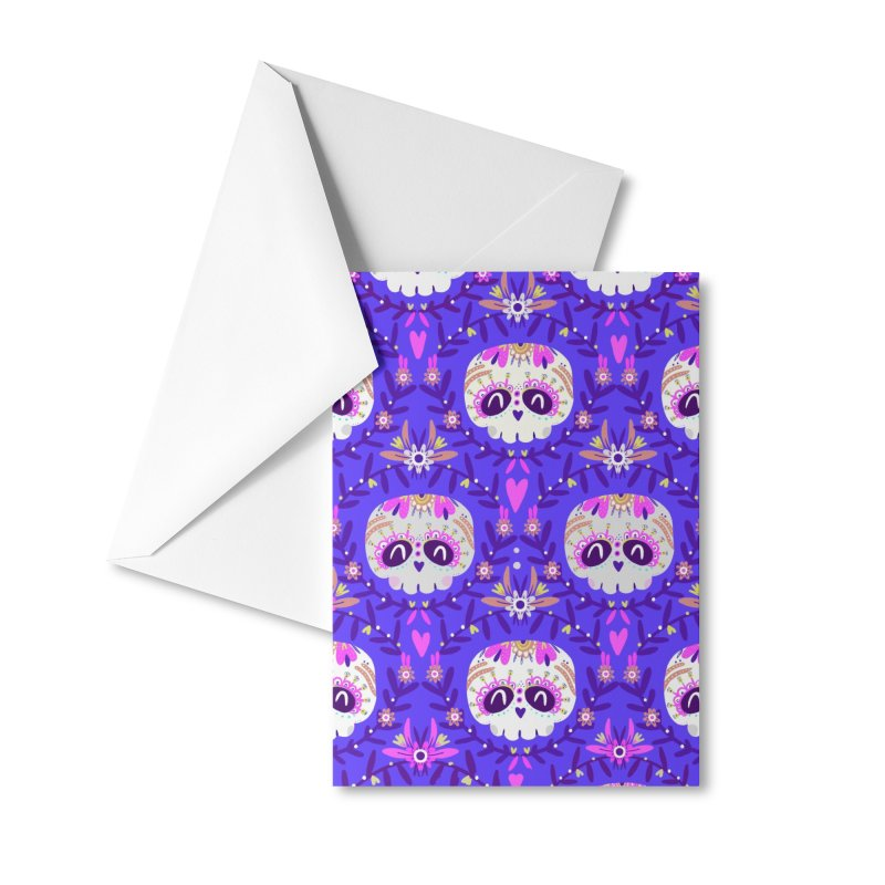 Calaveritas y flores Accessories Greeting Card by Maria Jose Da Luz