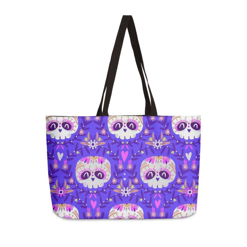 Calaveritas y flores Accessories Bag by Maria Jose Da Luz