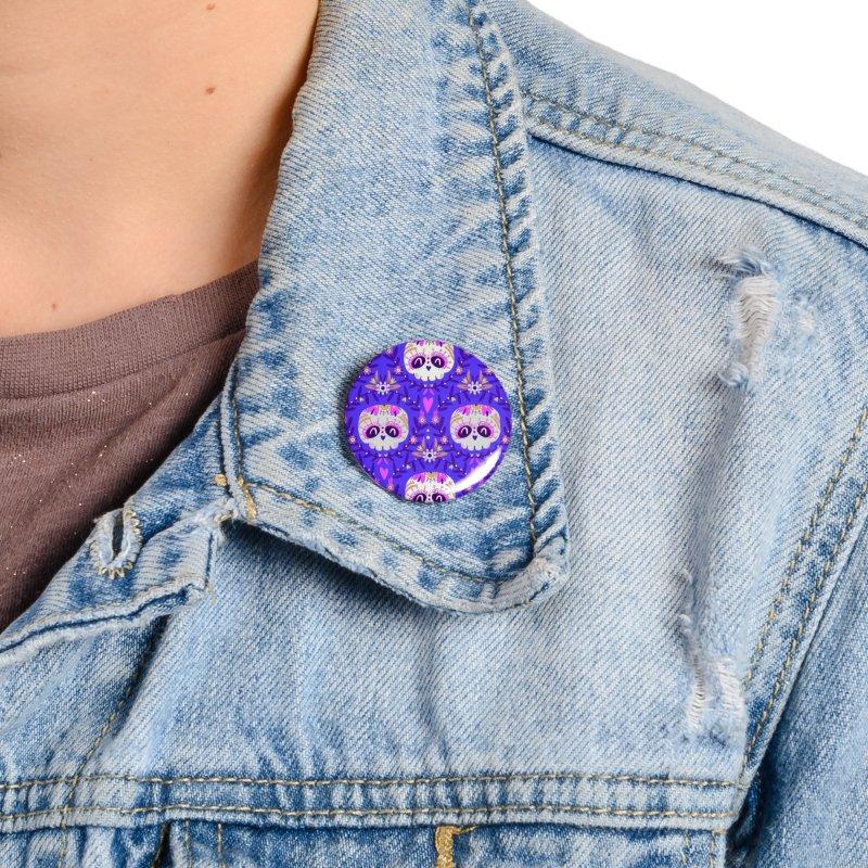 Calaveritas y flores Accessories Button by Maria Jose Da Luz