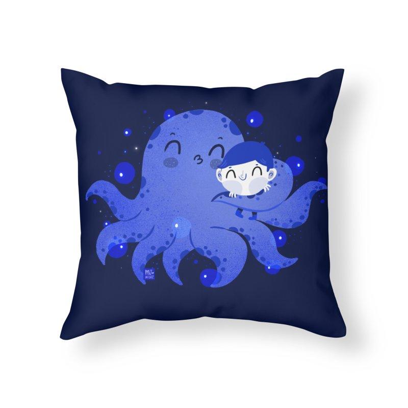 Hugs Home Throw Pillow by Maria Jose Da Luz