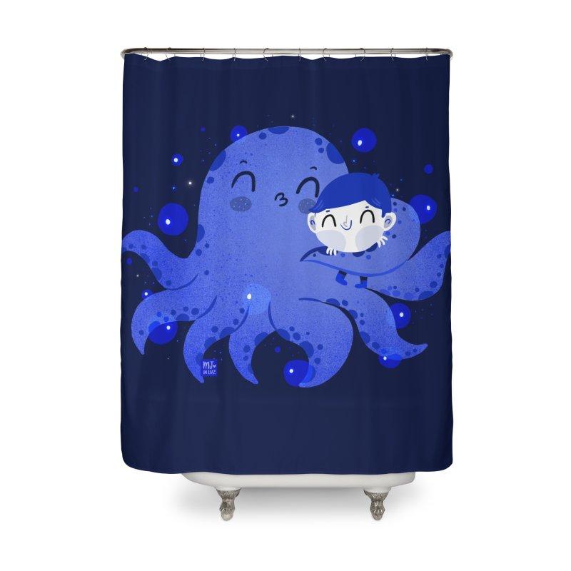 Hugs Home Shower Curtain by Maria Jose Da Luz
