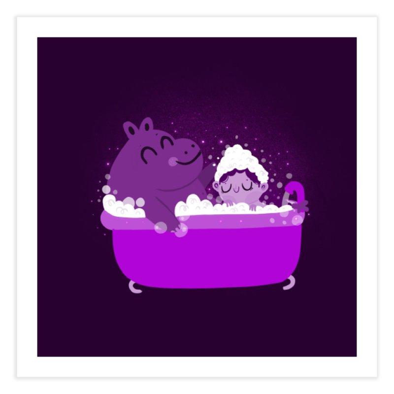 Bubble bath Home Fine Art Print by Maria Jose Da Luz