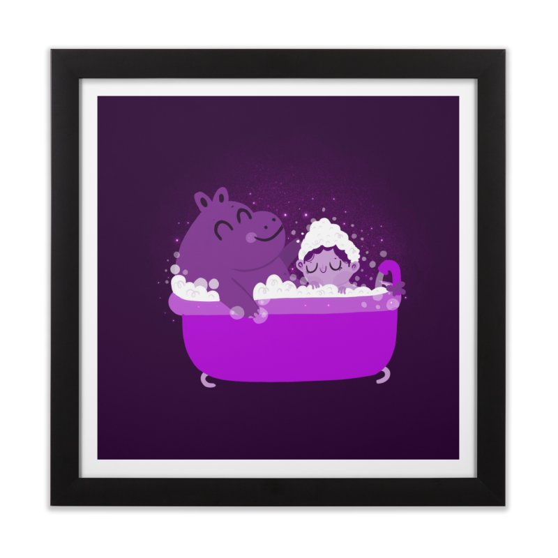 Bubble bath Home Framed Fine Art Print by Maria Jose Da Luz