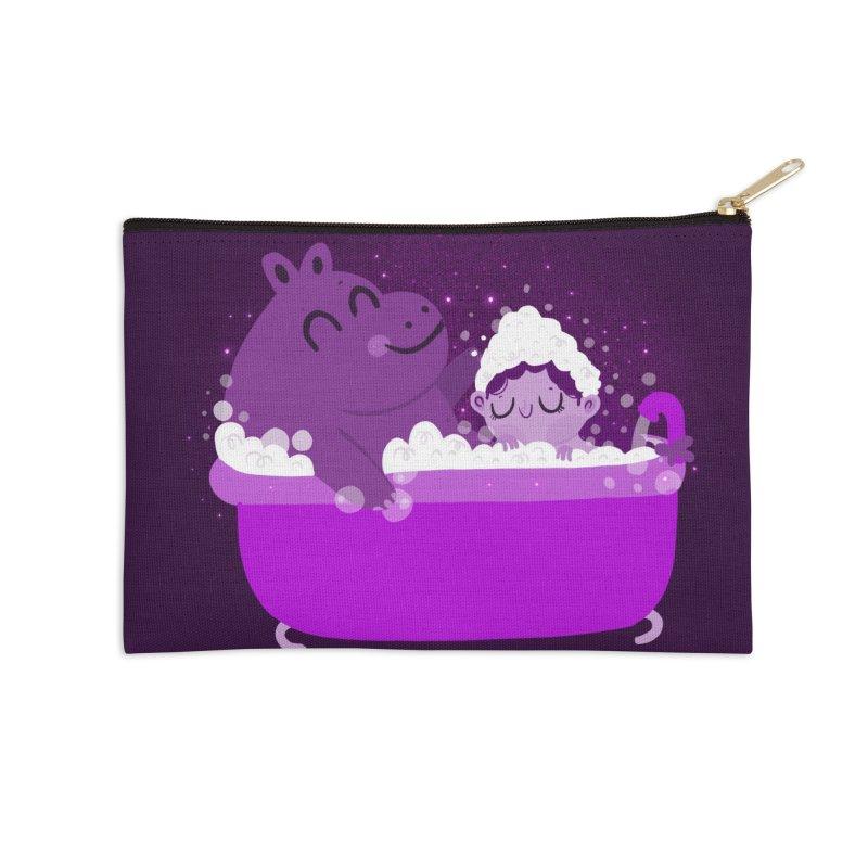 Bubble bath Accessories Zip Pouch by Maria Jose Da Luz