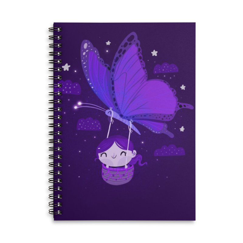 Flying high, higher and higher Accessories Notebook by Maria Jose Da Luz