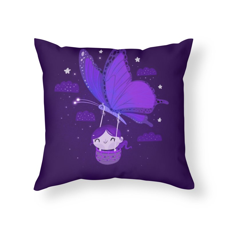 Flying high, higher and higher Home Throw Pillow by Maria Jose Da Luz