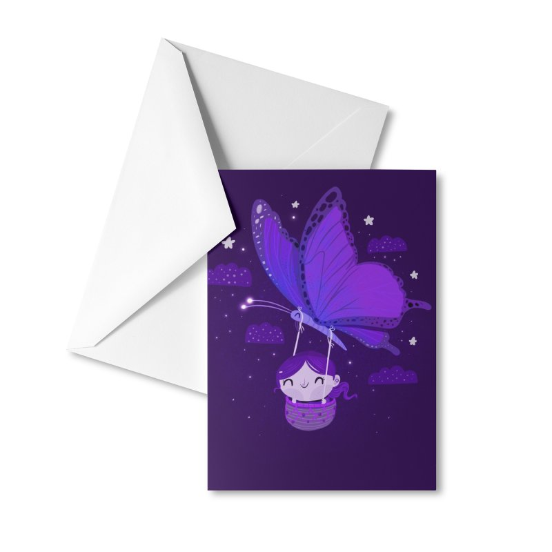 Flying high, higher and higher Accessories Greeting Card by Maria Jose Da Luz