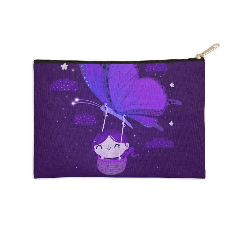 Flying high, higher and higher Accessories Zip Pouch by Maria Jose Da Luz