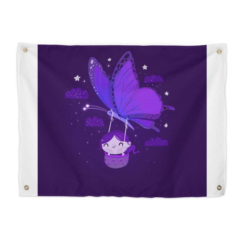 Flying high, higher and higher Home Tapestry by Maria Jose Da Luz