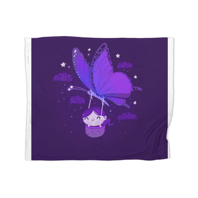 Flying high, higher and higher Home Blanket by Maria Jose Da Luz