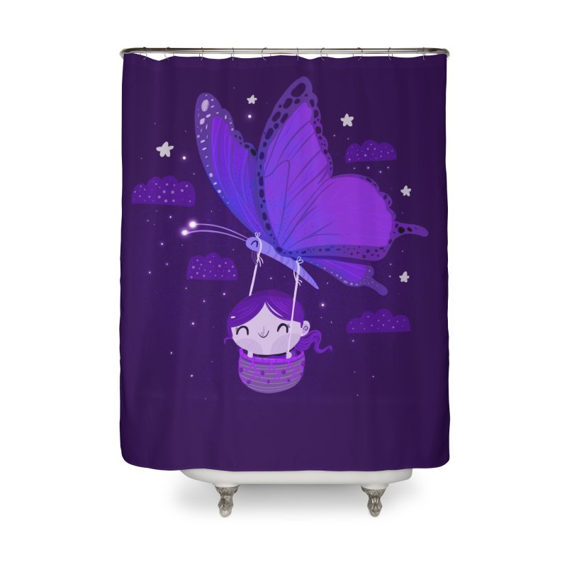 Flying high, higher and higher Home Shower Curtain by Maria Jose Da Luz