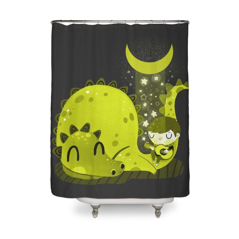 Moon serenade Home Shower Curtain by Maria Jose Da Luz