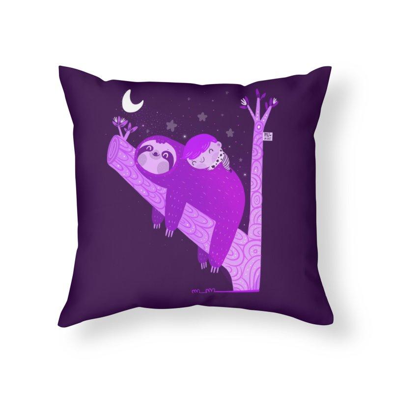 Resting Home Throw Pillow by Maria Jose Da Luz