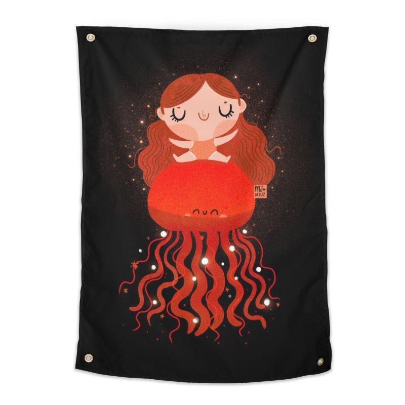 Jellyfish Home Tapestry by Maria Jose Da Luz