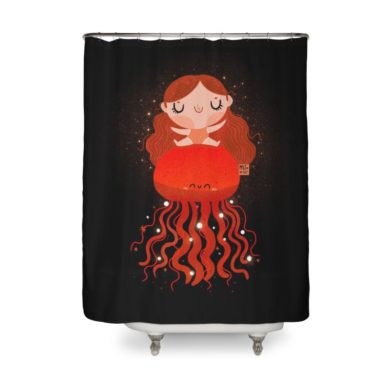 Jellyfish Home Shower Curtain by Maria Jose Da Luz