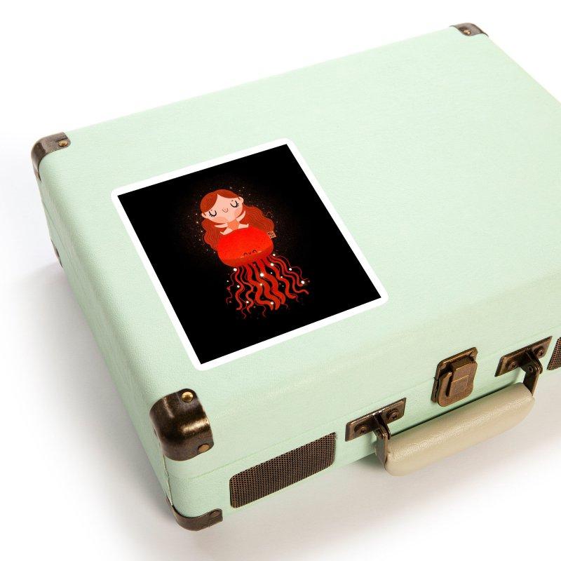 Jellyfish Accessories Sticker by Maria Jose Da Luz