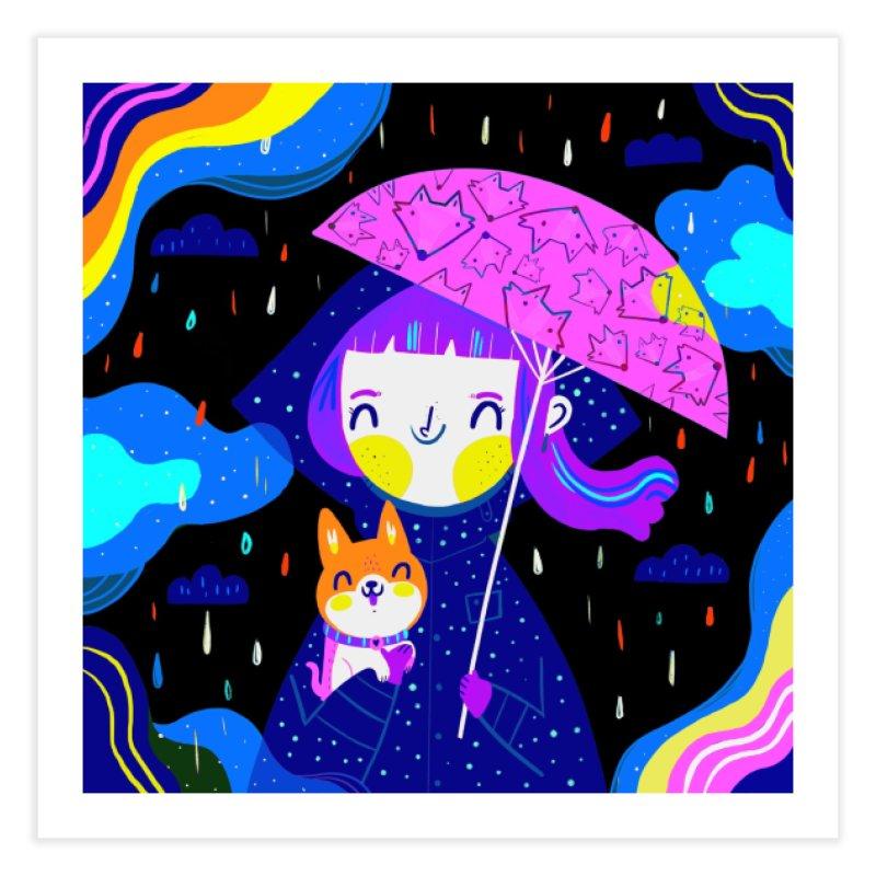 Rainy days Home Fine Art Print by Maria Jose Da Luz