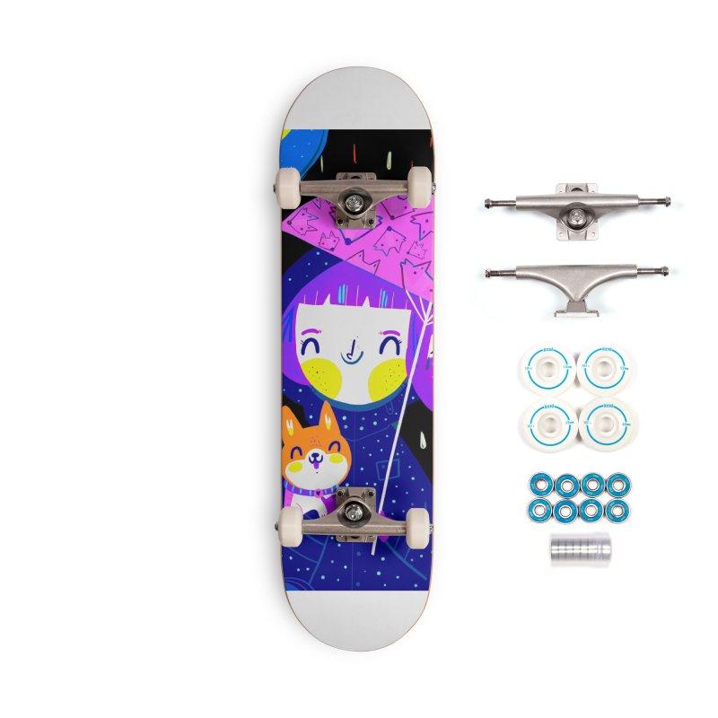 Rainy days Accessories Skateboard by Maria Jose Da Luz