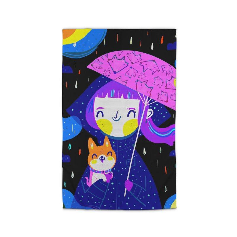 Rainy days Home Rug by Maria Jose Da Luz