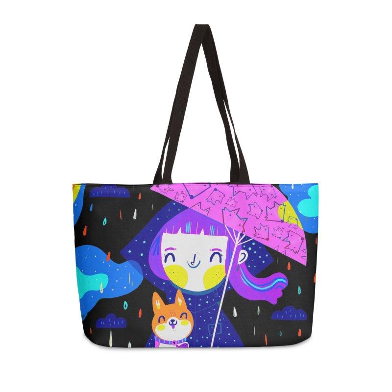Rainy days Accessories Bag by Maria Jose Da Luz