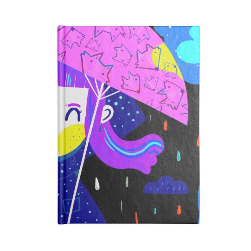 Rainy days Accessories Notebook by Maria Jose Da Luz