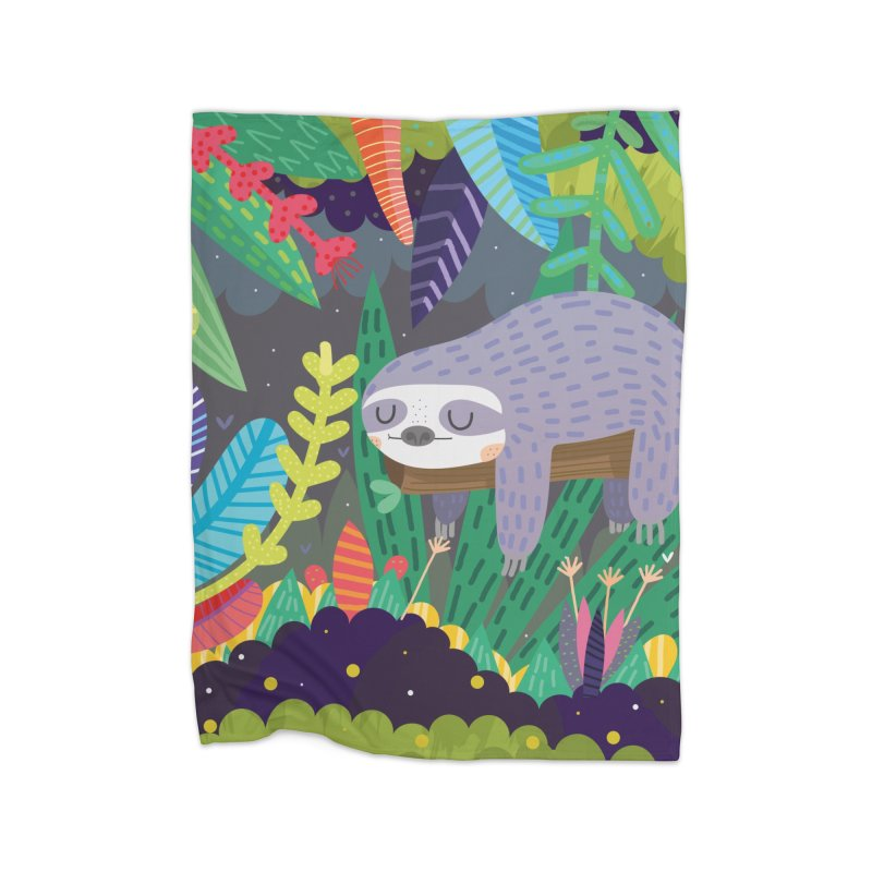 Sloth in nature Home Blanket by Maria Jose Da Luz