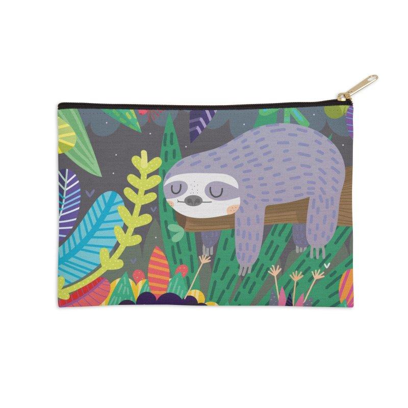 Sloth in nature Accessories Zip Pouch by Maria Jose Da Luz