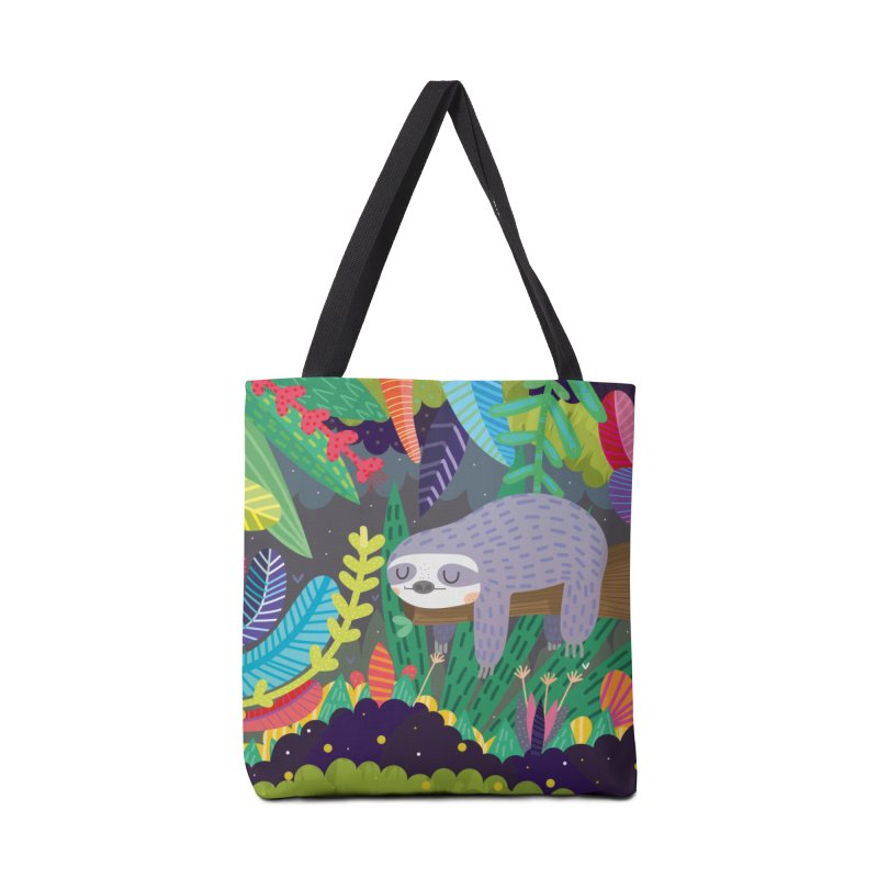 Sloth in nature Accessories Bag by Maria Jose Da Luz