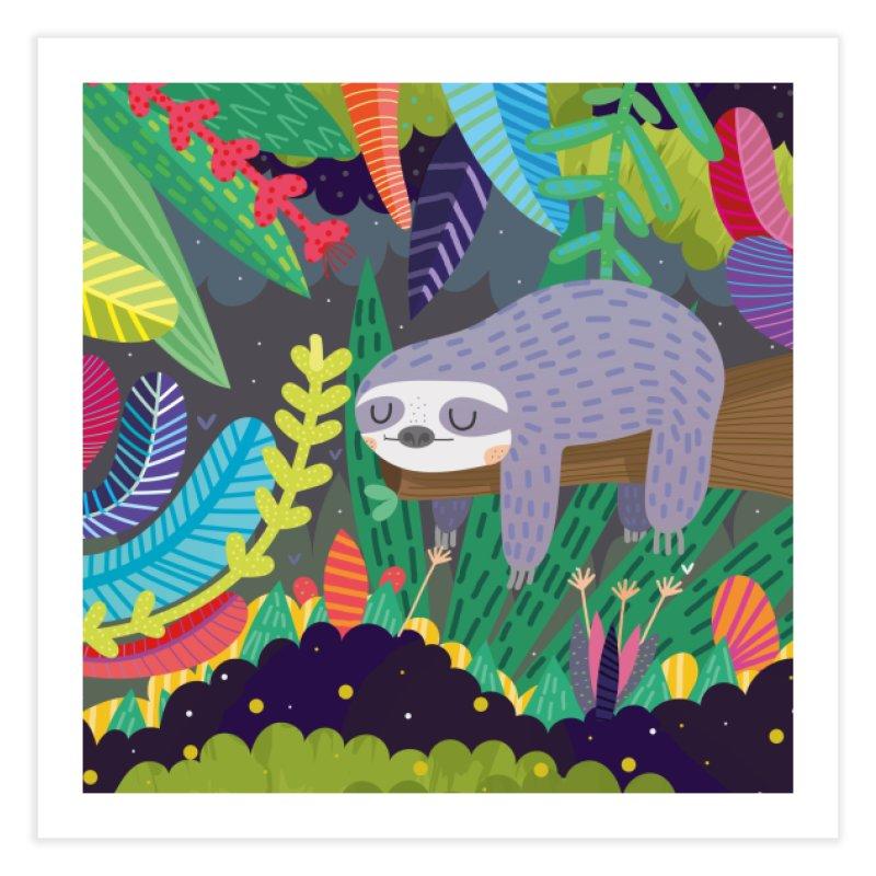 Sloth in nature Home Fine Art Print by Maria Jose Da Luz