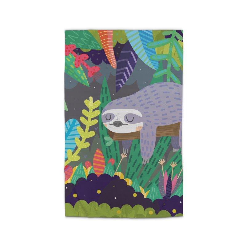 Sloth in nature Home Rug by Maria Jose Da Luz