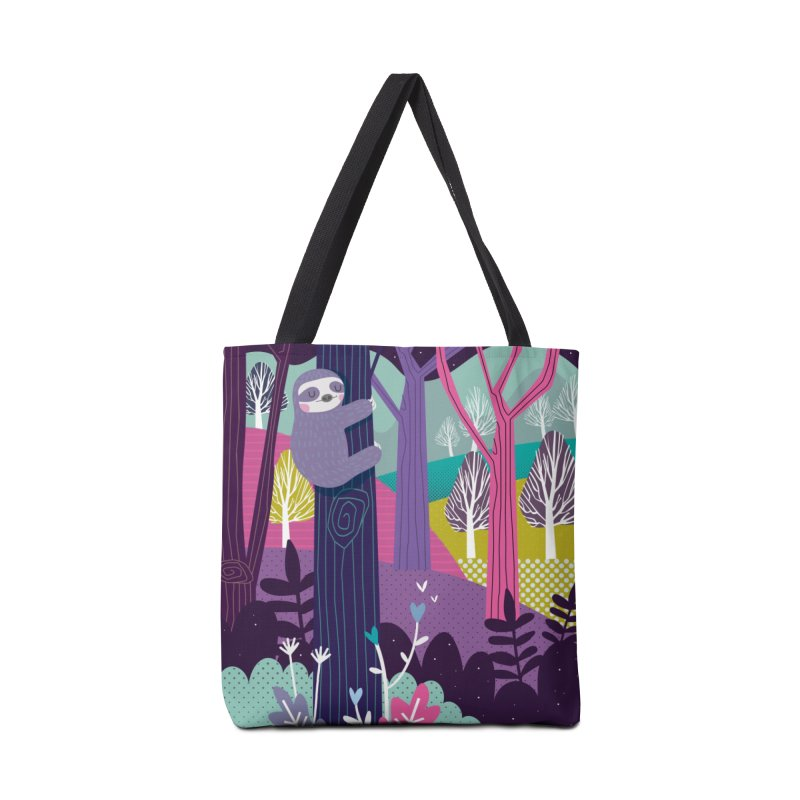 Sloth in the woods Accessories Bag by Maria Jose Da Luz