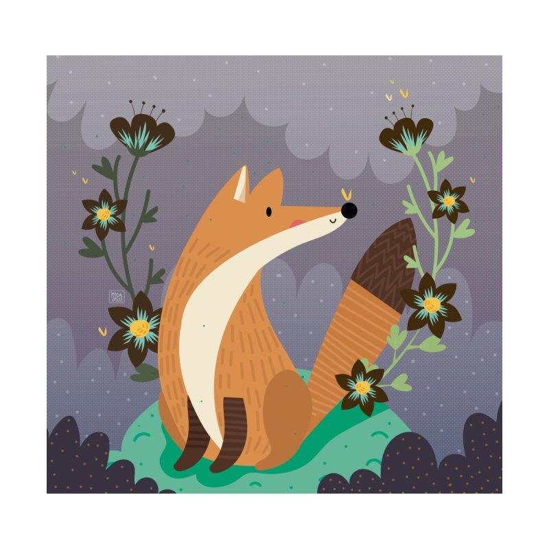 Fox and flowers by Maria Jose Da Luz