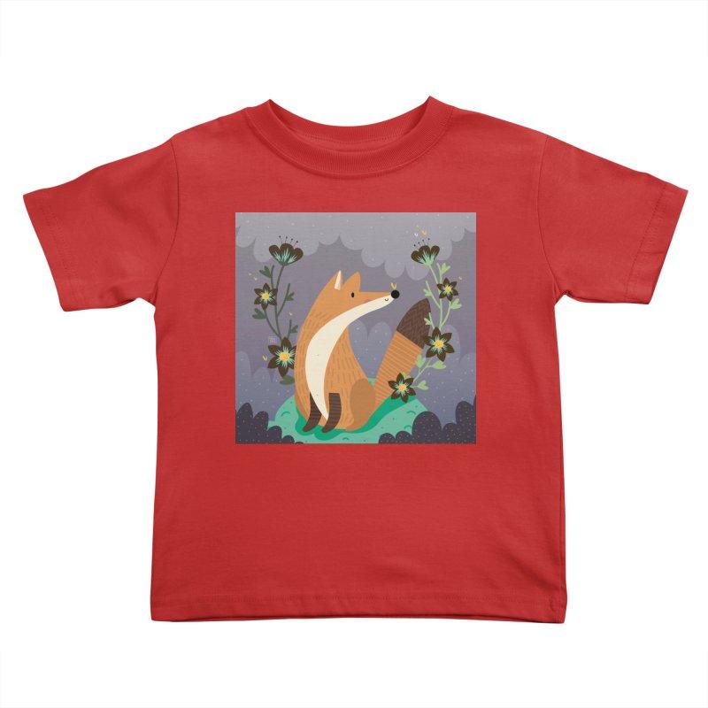 Fox and flowers Kids Toddler T-Shirt by Maria Jose Da Luz