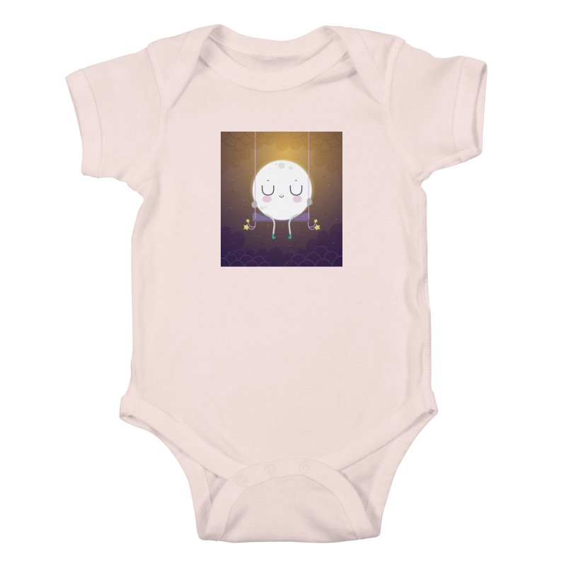 Little moon Kids Baby Bodysuit by Maria Jose Da Luz