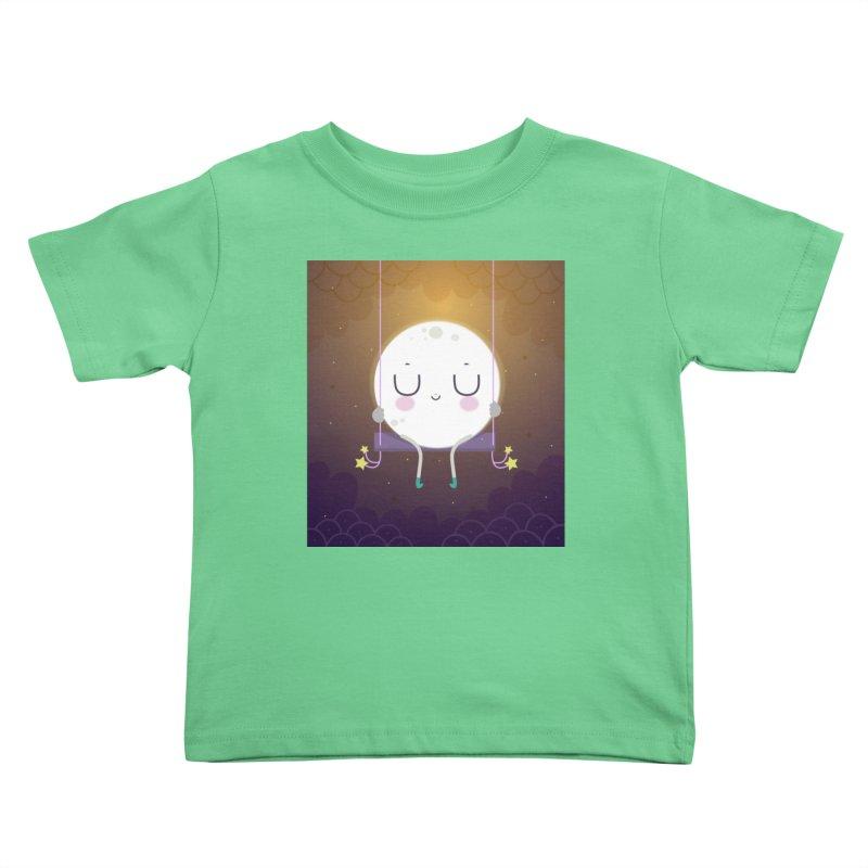 Little moon Kids Toddler T-Shirt by Maria Jose Da Luz