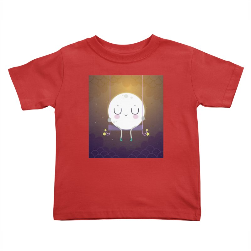 Little moon Kids Toddler T-Shirt by Maria Jose Da Luz