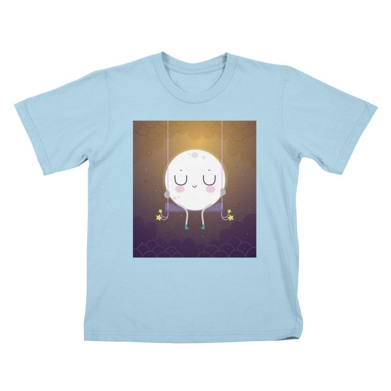 Little moon Kids T-Shirt by Maria Jose Da Luz