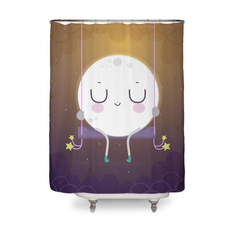 Little moon Home Shower Curtain by Maria Jose Da Luz