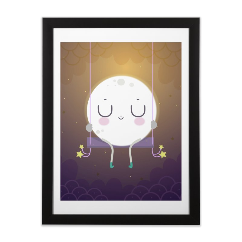 Little moon Home Framed Fine Art Print by Maria Jose Da Luz