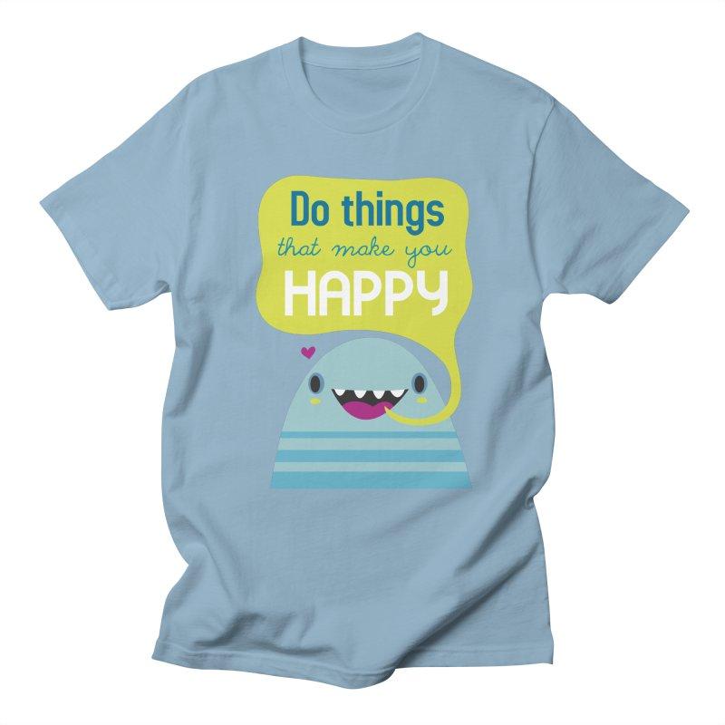 Do things that make you happy Men's T-shirt by Maria Jose Da Luz