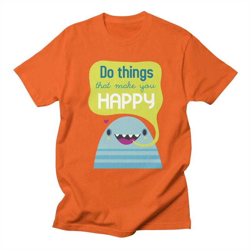 Do things that make you happy Men's T-shirt by Maria Jose Da Luz