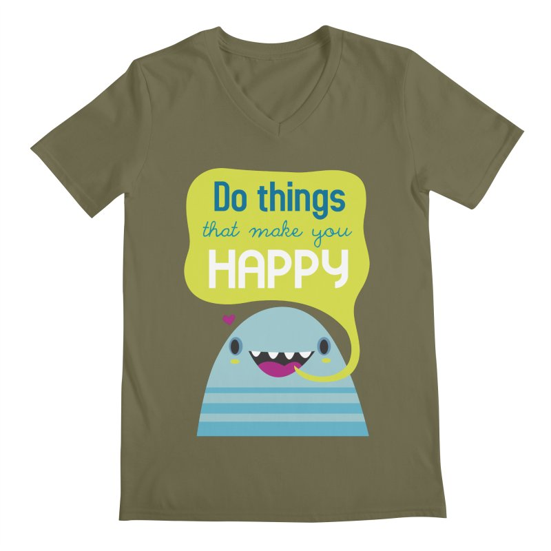 Do things that make you happy Men's V-Neck by Maria Jose Da Luz